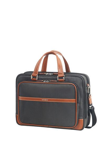 Fairbrook Briefcase Black/Cognac