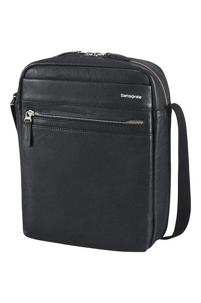 Hip-Class Lth Crossover bag Black