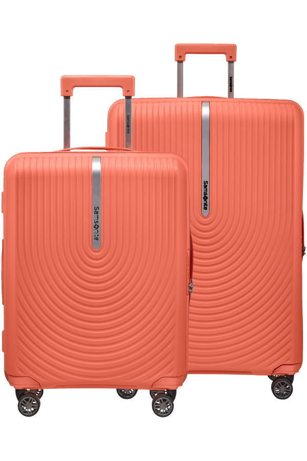 Samsonite Hi-Fi 2 PC Set A  Bright Coral