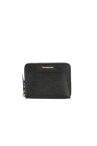Lady Saffiano II SLG Wallet Black