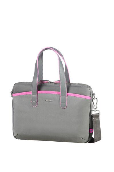 Nefti Briefcase Rock Grey/Fuchsia