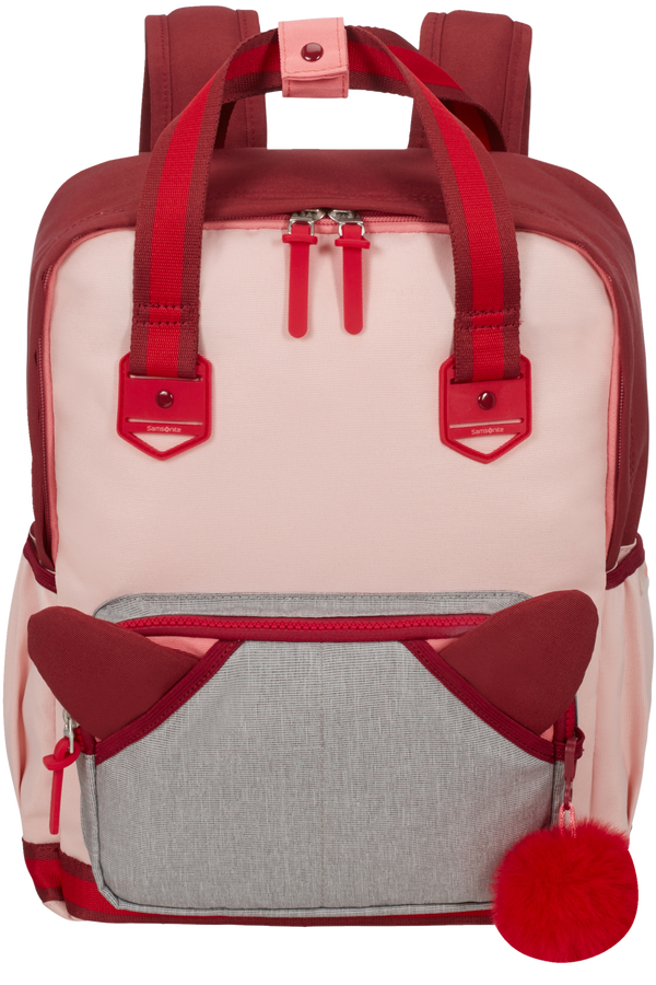 Samsonite Sam School Spirit Backpack M  Burgundy Pink Mascot