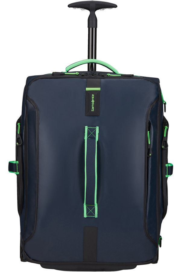 Samsonite Paradiver Light Duffle with wheels 55cm  Night Blue/Fluo Green