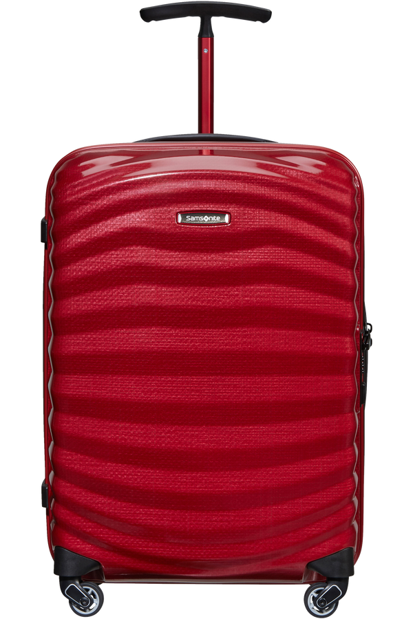 Samsonite Lite-Shock Sport Spinner 55cm  Bright Red/Silver