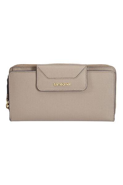 Lady Saffiano II SLG Wallet Warm Grey