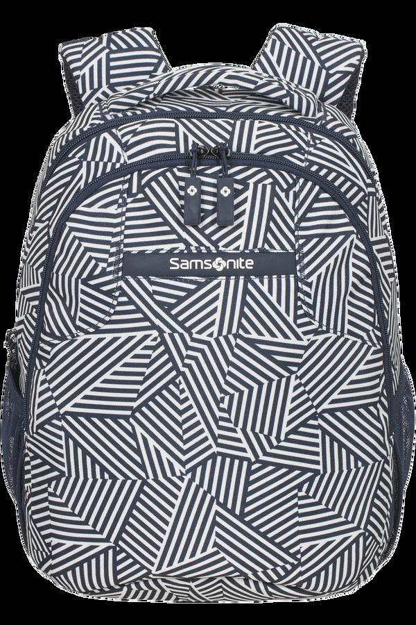 Samsonite Rewind Backpack S  Navy Blue Stripes
