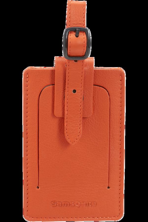 Samsonite Global Ta ID Leather Luggage Tag Orange