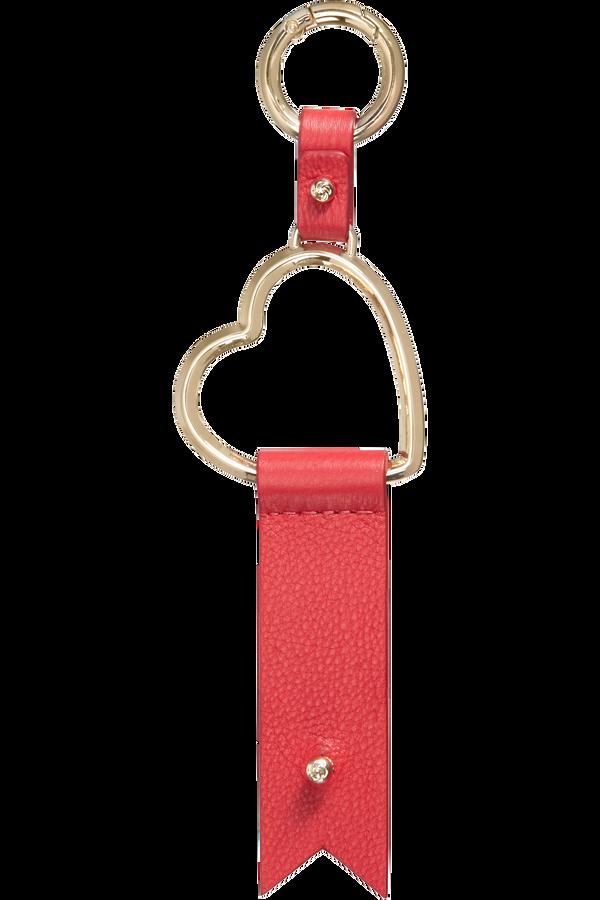 Samsonite Lady Charmy Heart Key Ring  Red