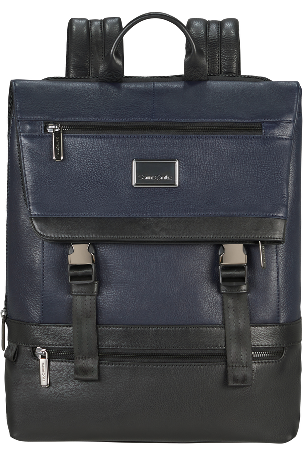 Samsonite Waymore Lth Laptop Backpack Flap Slim  15.6inch Blue
