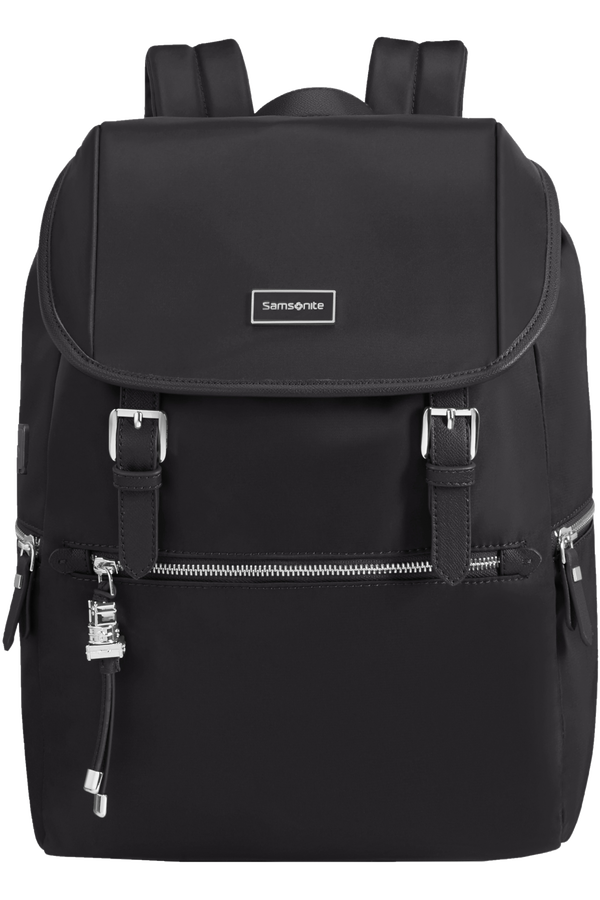 Samsonite Karissa Biz Backpack 14.1'+Flap W/Usb  Black