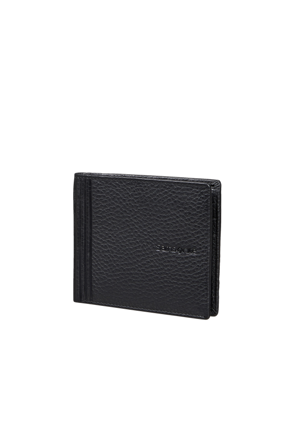 Samsonite Double Leather Slg 001 - B S 6CC+2C  Black