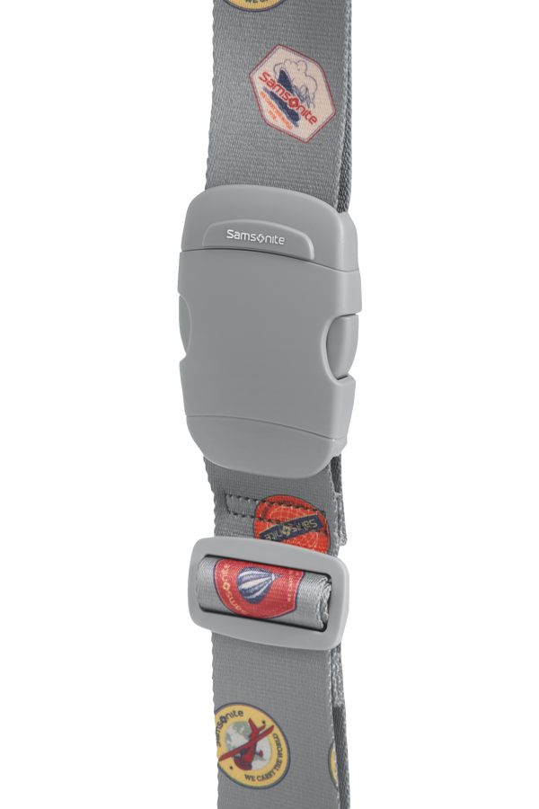 Samsonite Global Ta Luggage Strap 50mm Heritage Patches
