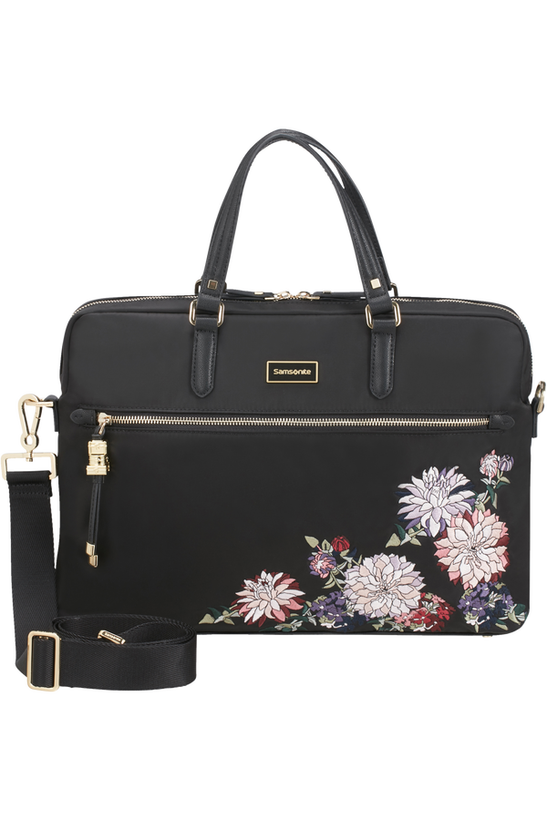 Samsonite Karissa Biz Bailhandle  15.6inch Black/Flower Embroidery