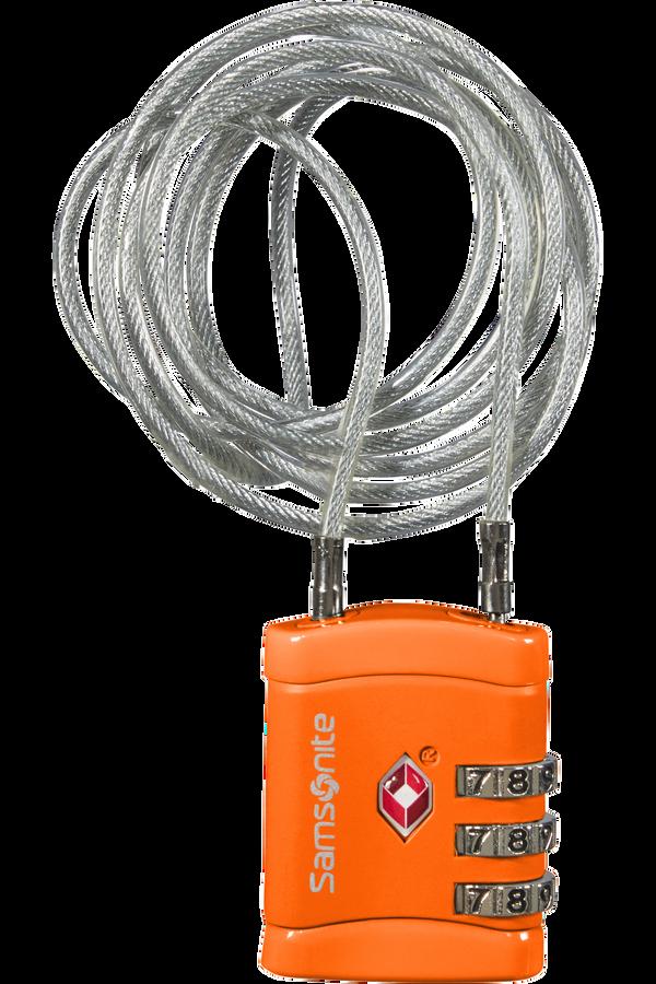 Samsonite Global Ta Long Cablelock TSA Orange