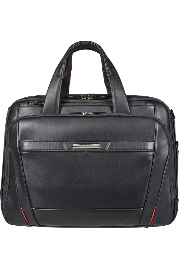 Samsonite Pro-Dlx 5 Lth Laptop Bailhandle Expandable  15.6inch Black