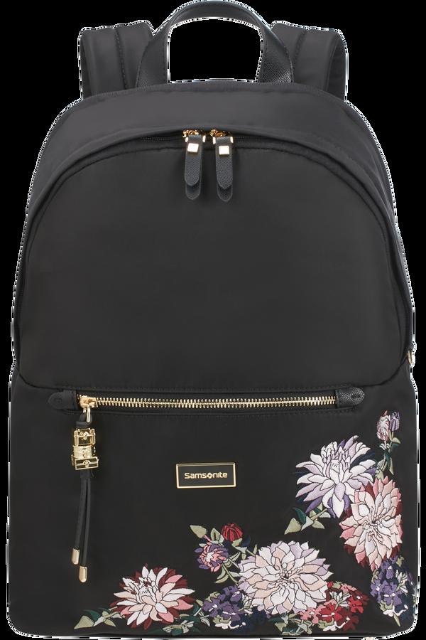 Samsonite Karissa Biz Round Backpack  14.1inch Black/Flower Embroidery