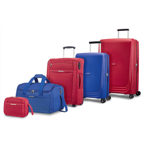 The Red and Royal Blue match perfectly with the same colours of our softside Dynamo collection.