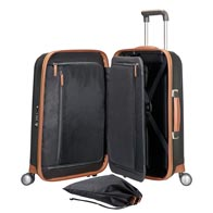 Fully featured interior including smart packing frame, and practical pockets and bags.